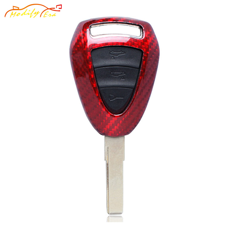 Red/Black Carbon Fiber Key Case Covers Shell For Porsche 911 997 Cayman Boxster 987 car styling  car accessories