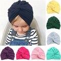 39123787b76 New Designed Cute Baby Hat Cotton Soft Turban Knot Girl Summer Hat Bohemian  style Kids Newborn