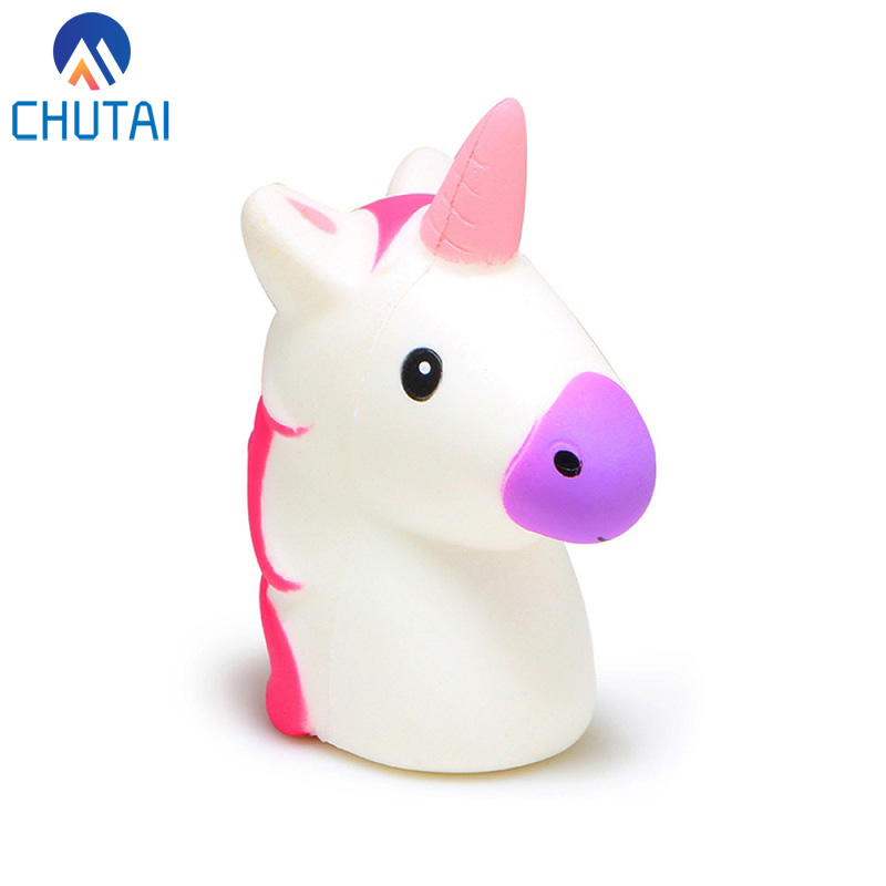 Random Color MINI Unicorn Slow Rising Squishy Baby Kids Stress Reliever Squeeze Toys Lanyard For Keychain/Phone Strap 5x3.5x2 CM