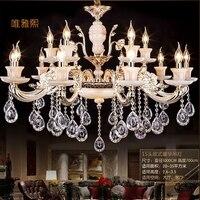 Modern Luxury K9 Crystal Chandelier LED Pendant Hanging Light Lustres De Cristal Lamp