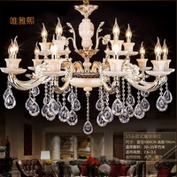 Modern Luxury K9 Crystal Chandelier LED Pendant Hanging Light Lustres De Cristal Lamp