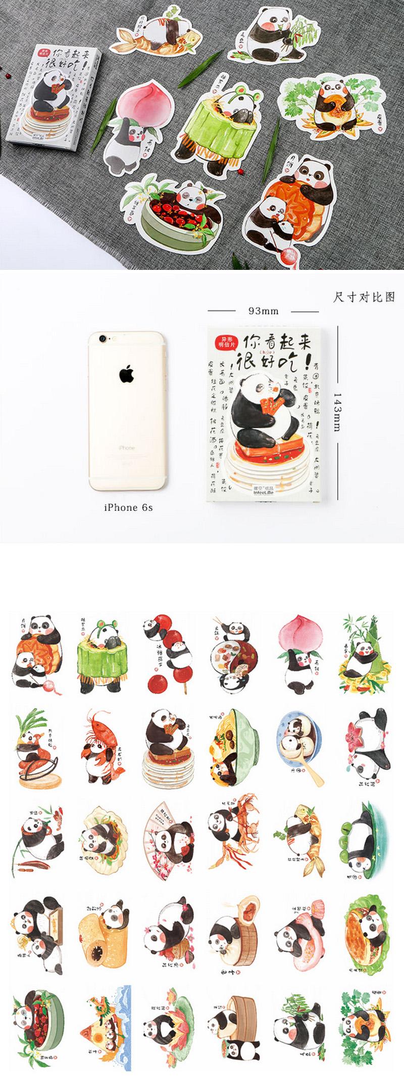 US $3 84 OFF 30 Pcs pack Baru Heteronomous Languages Lucu Panda Hewan Kartu Ucapan Kartu Pos Ulang Tahun Amplop Hadiah Set Kartu Kartu Pesan di