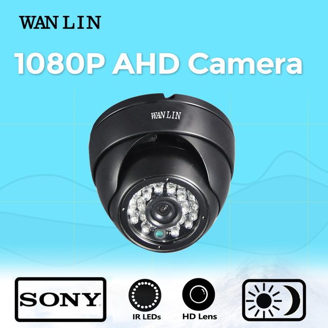 WANLIN 2.0MP SONY IMX323 1080P Metal Dome AHD Camera Vandalproof Indoor 20M Night Vision AHD Security Video Surveillance Camera