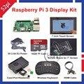 Raspberry Pi 3 16 ГБ Starter Дисплей Комплект с 7 дюймов Сенсорный Экран + Акриловый Крепление + Радиаторы + Вентилятор охлаждения + 5 В 2.5A США/ЕС/ВЕЛИКОБРИТАНИЯ/AU Power