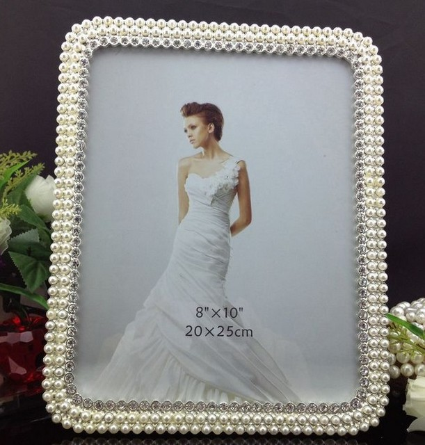 Luxury 8X10 Inch Paint Rectangle Zinc Metal Frame Photo Silver Mats ...