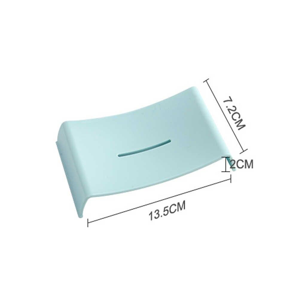 1 PC łazienka mydelniczka prysznicowa do przechowywania-bezpłatny spustowy płyta tacka przypadku mydelniczka tacy akcesoria proste mydło pudełko do domu