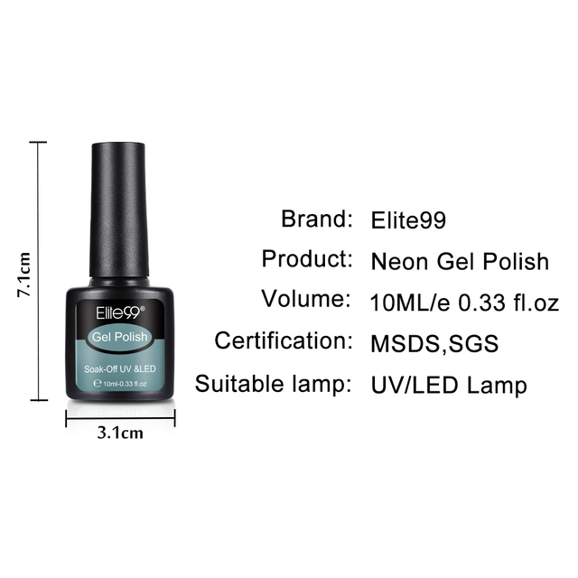 Elite99 Neue Nagel Farbe Gel 10ml 22 farben Neon Gel Polish Nagel Gel Soak Off UV Gel Polnischen Nagel lack Lacke Bling Nagel Kunst
