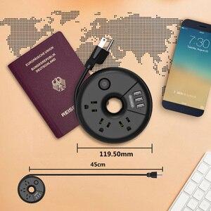 Image 5 - NTONPOWER ODR صغيرة محمولة USB قطاع الطاقة السفر الولايات المتحدة التوصيل المقبس حماية الزائد 3AC المخرج مع 3 منفذ USB الذكية الشحن