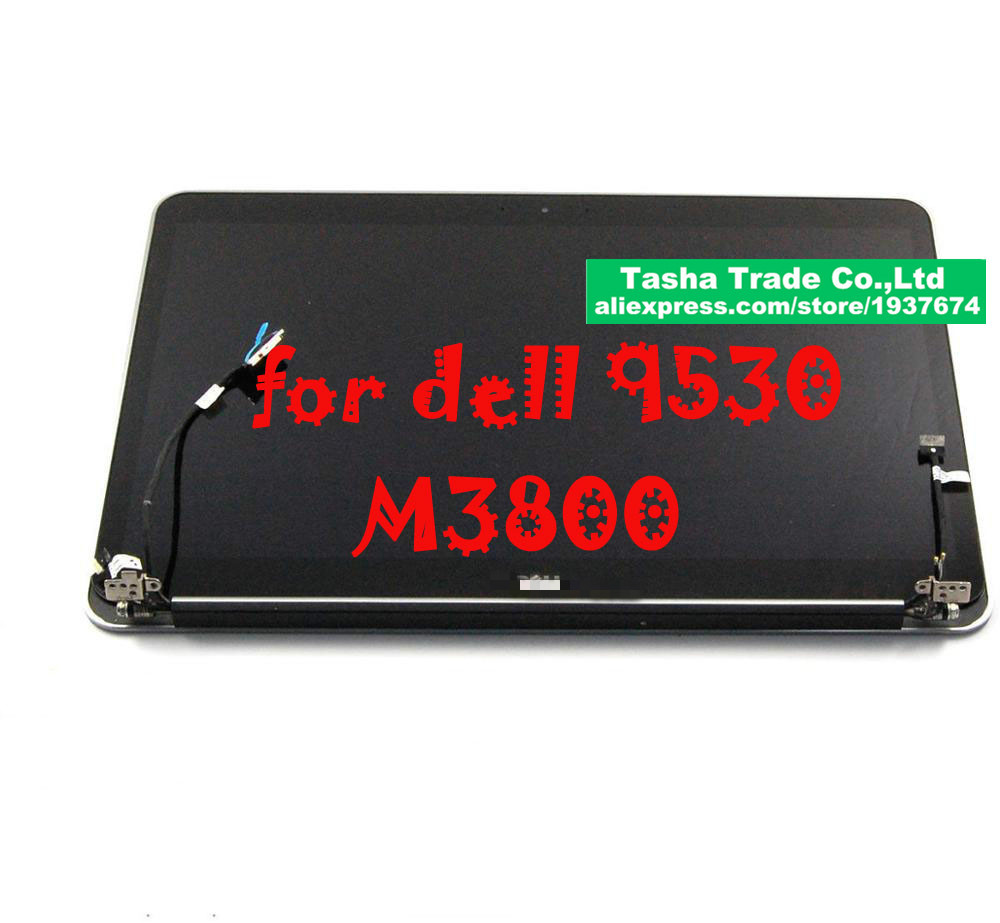 For Dell XPS 15 9530 15.6  Touch Screen LED Display LCD Complete Assembly 3200*1800 New Original hj6y9 genuine for dell lcd display assembly matte xps 13 9350 p54g series lcd led glass complete display digitizer non touch