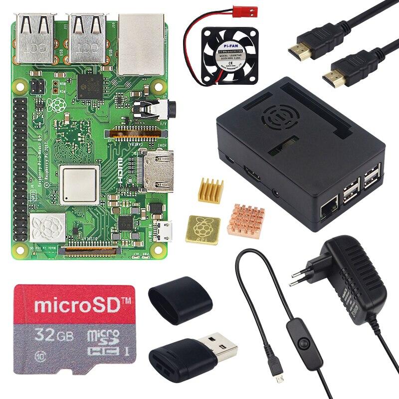 Raspberry Pi 3 Modelo B, modelo B + pantalla táctil de 3,5 pulgadas LCD + ABS + tarjeta SD de 32 GB + 3A adaptador de corriente + disipadores térmicos + HDMI para RPI 3B Plus - 2
