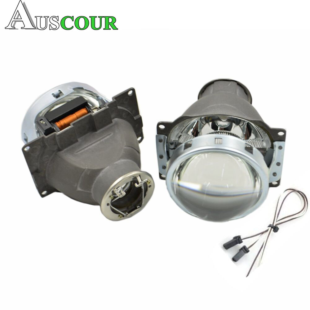2 pcs 3.0 inch H7Q5 Bi xenon Hid Projector Lens Headlamp Headlight bulb Metal Holder h7 Hid Xenon Kit car assembly kit Modify
