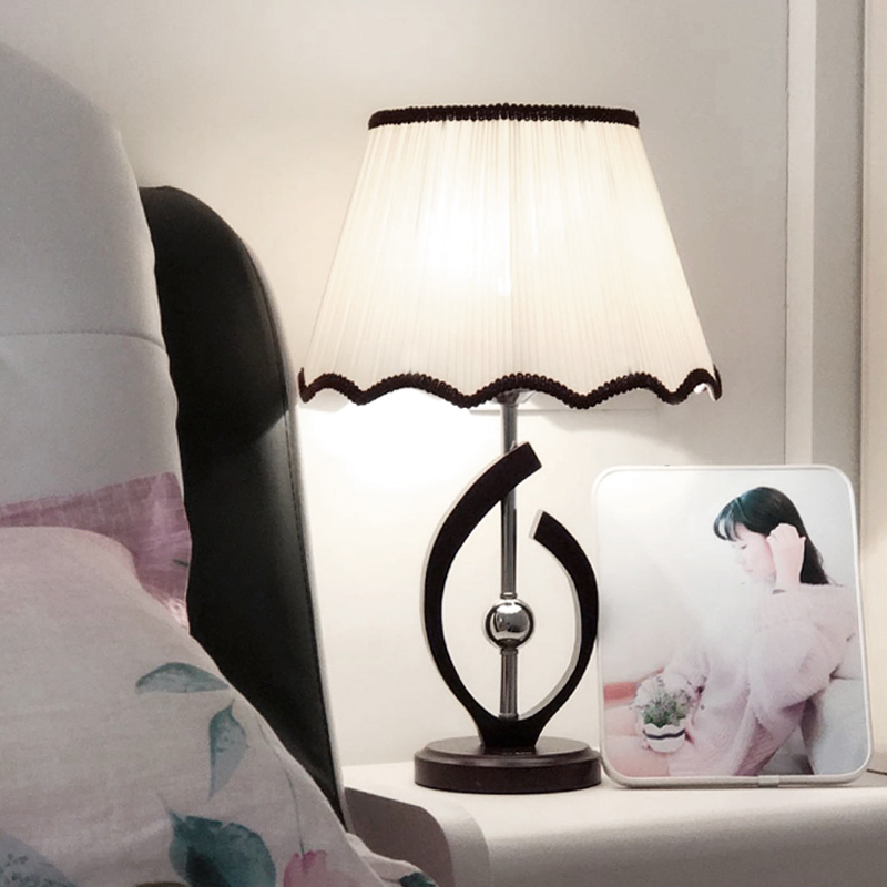 feeding solid wood room lamps  Table lamp led modern simple bedroom bedside study creative fashion warm CL tuda glass shell table lamps creative fashion simple desk lamp hotel room living room study bedroom bedside lamp indoor lighting