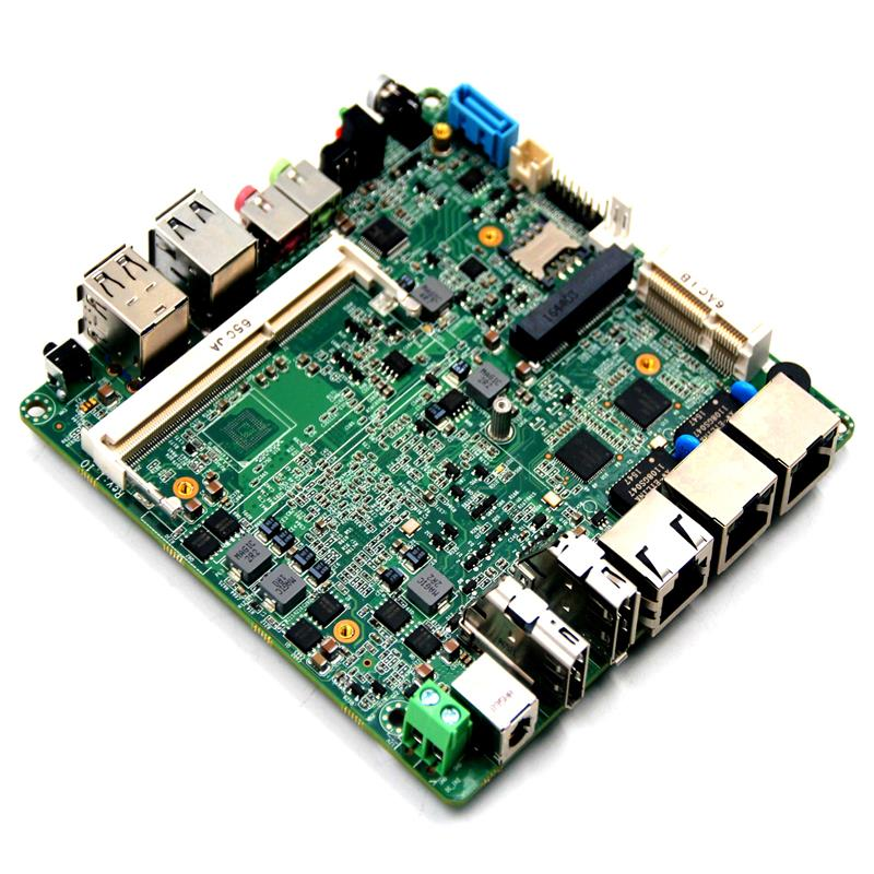 2 ethernet ports motherboard dual core cpu firewall motherboard with HDMI DP display koorinwoo universal dual core cpu car