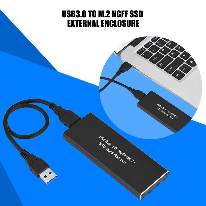 USB3.0 к M.2 NGFF SSD жесткий диск Корпус 256 г Черный ...