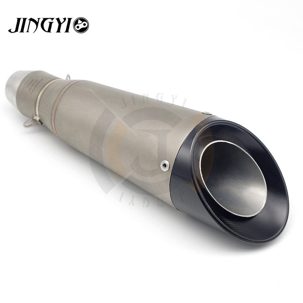 51mm Inlet Universal Motorcycle Exhaust Pipe Muffler Stainless Steel silencieux moto Slip On FOR SUZUKI GSXR GSX-R 600 750 K6 K7 51mm universal motorcycle scooter exhaust pipe muffler escape for suzuki gsxr 600 750 gsx r 2006 2007 2008 2009 k6 k7 k8 k9