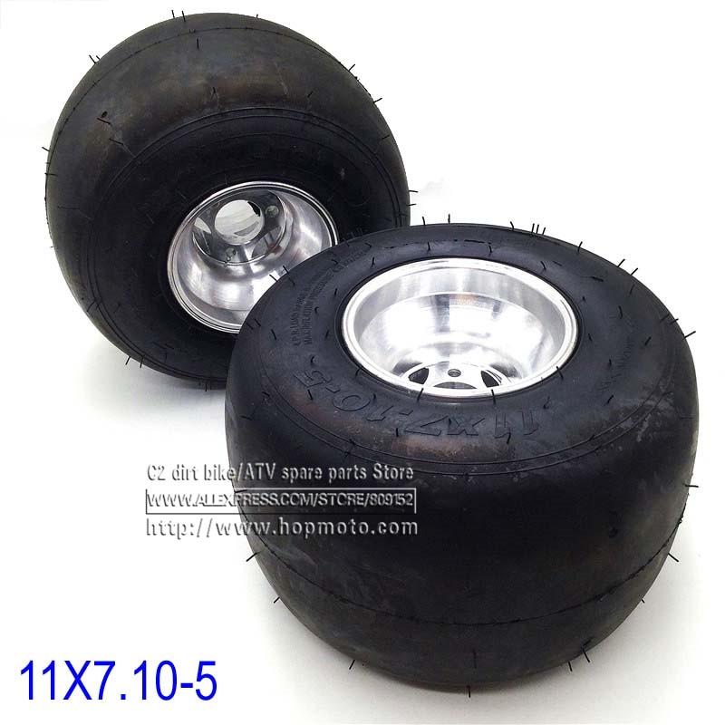 168 Go kart 5 inch Rear wheels beach car accessories drift bike wheel 11X7.10-5 kart tire ATV Quad