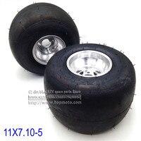 168 Go kart 5 inch Rear wheels beach car accessories drift bike wheel 11X7.10 5 kart tire ATV Quad