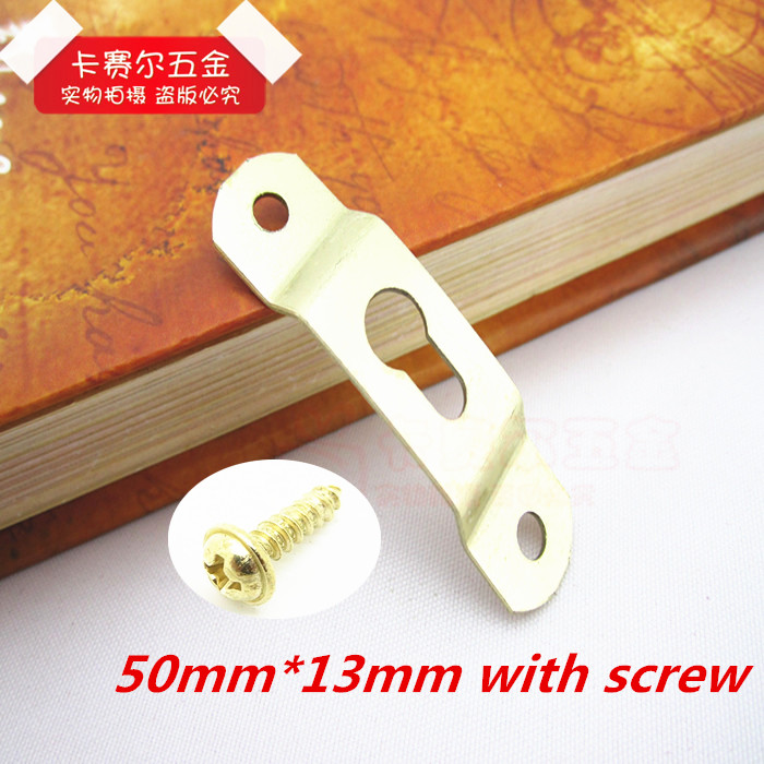 20pcs hardware frame accessories picture frame hooks brass picture hanger hanging photo oil thickened hooks with