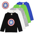 Children Clothes Captain America Boys T-shirt Kids T Shirt With Long Sleeve Baby Cotton Tee Shirts child casual sport costume