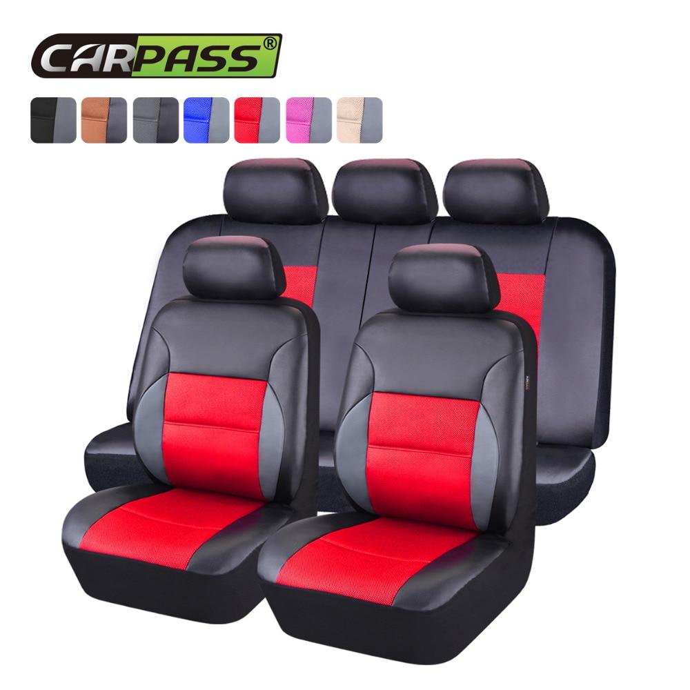 Housse de siège de voiture universelle en cuir Pvc Sandwich ensemble complet accessoires de voiture housse de siège de voiture pour Lada Ford Nissan Renault BMW