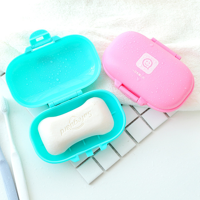 5PCS Travel Soap Dish Box Case Holder Hygienic Easy To Carry Soap Box Home Bathroom Shower Travel Hiking Holder Container Box