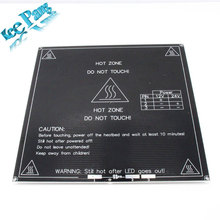 El envío gratuito! 2 UNIDS/LOTE impresora 3D heatbed Calor cama cama reprap MK3 estándar placa de aluminio de 3mm caliente