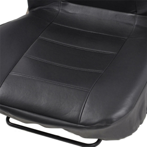 Image 3 - 2pcs Black PU Leather Car Seat Cover for All Car SUV Truck Car Seat Protector Airbag Compatible
