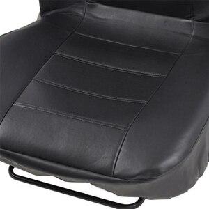 Image 3 - 2pcs שחור עור מפוצל רכב מושב כיסוי עבור כל רכב Suv משאית לרכב מושב מגן כרית אוויר תואם