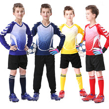 Custom Kids Goalkeeper Jersey Football Set Thicken Sponge Protector Doorkeeper Soccer Clothing