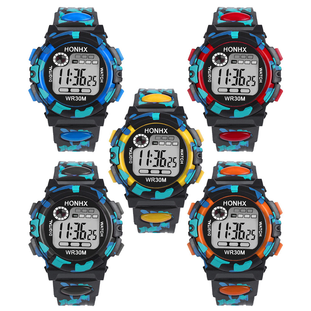2019 Waterproof Children Watch Kids Child Boy Girl Multifunction Waterproof Sports Electronic Watch Watches Select Gift For Kid