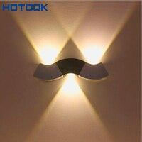 Modern 3W Wall Light Up & Down LED Sconce Lighting Spotlight Toilet Wall Mounted Reading Lamps Bedroom Livingroom Soft Lights
