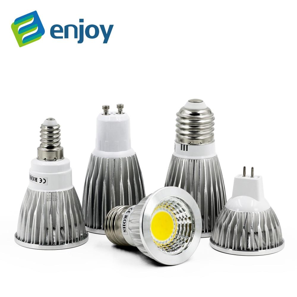 COB GU10 GU5.3 E27 E14 MR16 12 V Lampada Led-lampe 220 V...