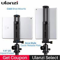Ulanzi U Pad Pro Aluminium Tablet Tripod Mount Holder Clamp w Cold Shoe for iPad Pro iPad Mini Air Huawei PC to Boya BY MM1 Mic
