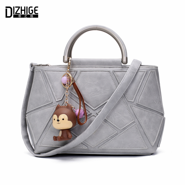 DIZHIGE Brand Fashion Patchwork Women Bag Designer Ladies Bags Tote Famous PU Leather Crossbody Bags For Women Handbags 2016 New