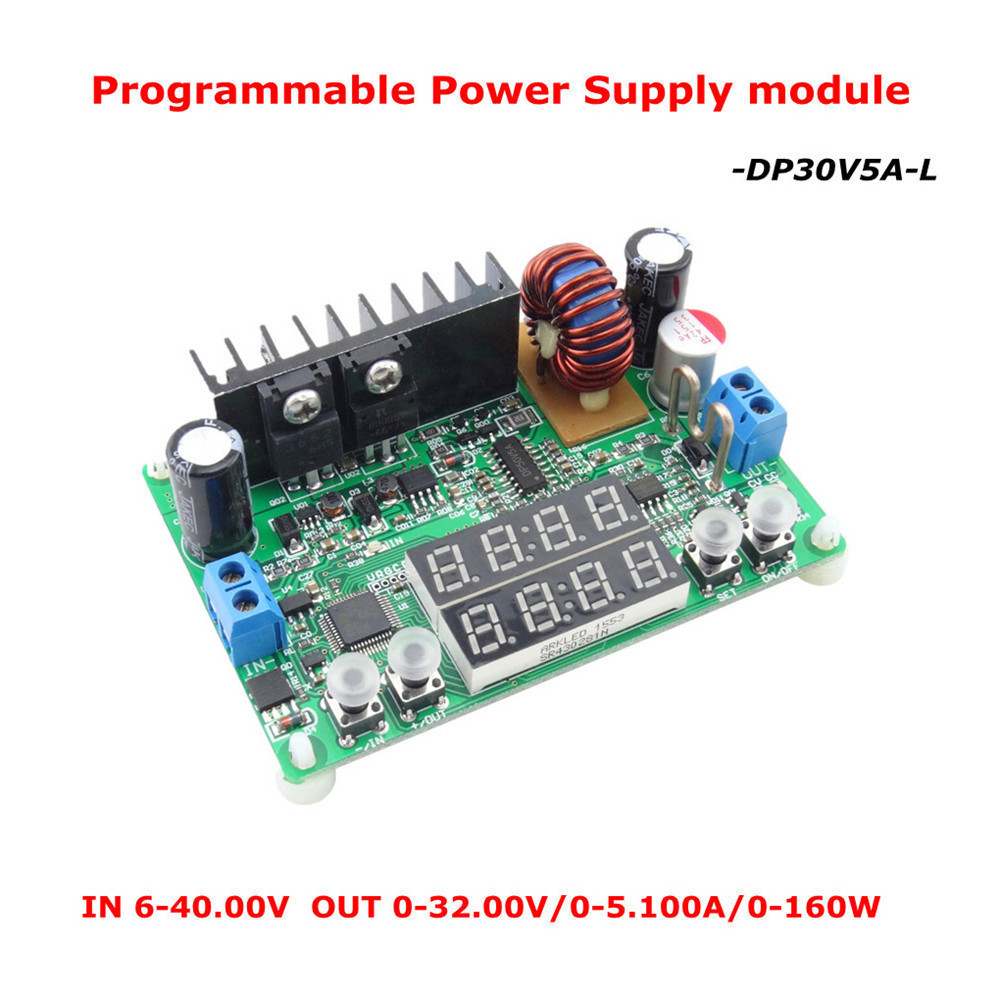 DP30V5A-L Constant Tension Courant Step-down Programmable Alimentation Buck Module Convertisseur de Tension LED Contrôleur D'affichage