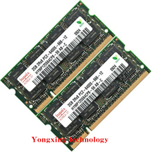For hynix DDR2 4GB 2x2GB 800MHz PC2-6400S Original authentic DDR 2 2G notebook memory Laptop RAM 200PIN SODIMM