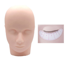 Practice Training Head  Makeup Cosmetology Mannequin Doll Eyelashes Extension Face Massage Pro