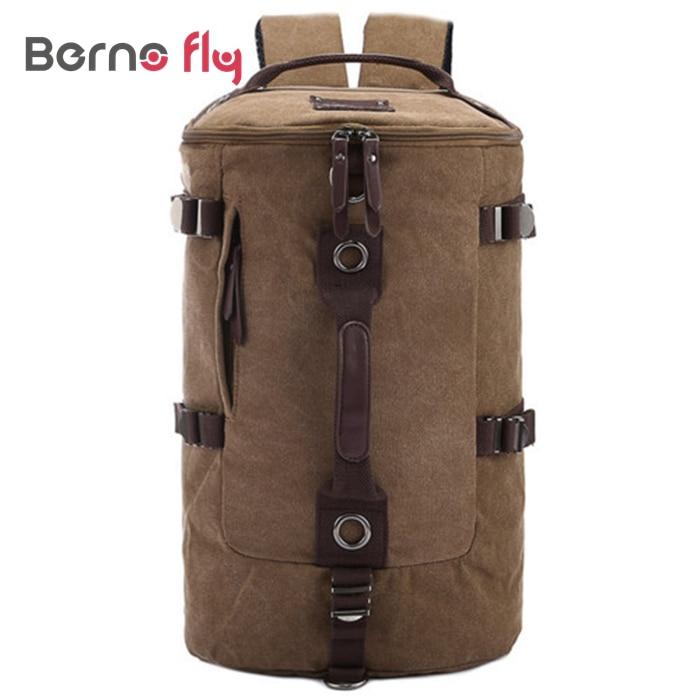 ФОТО New Hot Large capacity man travel bag Solid zipper backpack men bags Casual canvas bucket shoulder bag