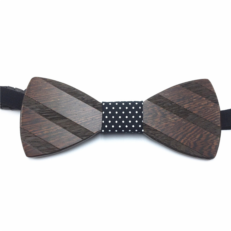 Bilimi Fashion Mens Wooden Bow Tie Accessory Wedding Party Christmas Gifts Bamboo Wood Bowtie Neck for Men Women cravat NS37