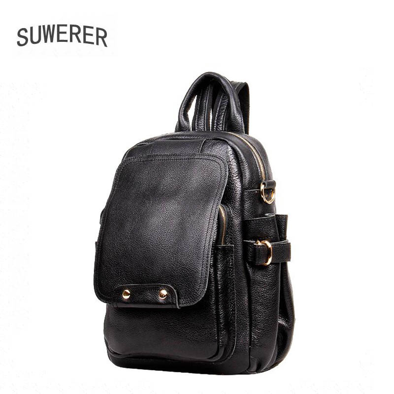 SUWERER new Genuine Leather backpack women luxury backpack women bags designer bags women backpack fashion bag suwerer new genuine leather women bags special craftsmanship fashion luxury handbags women bags designer women leather handbags