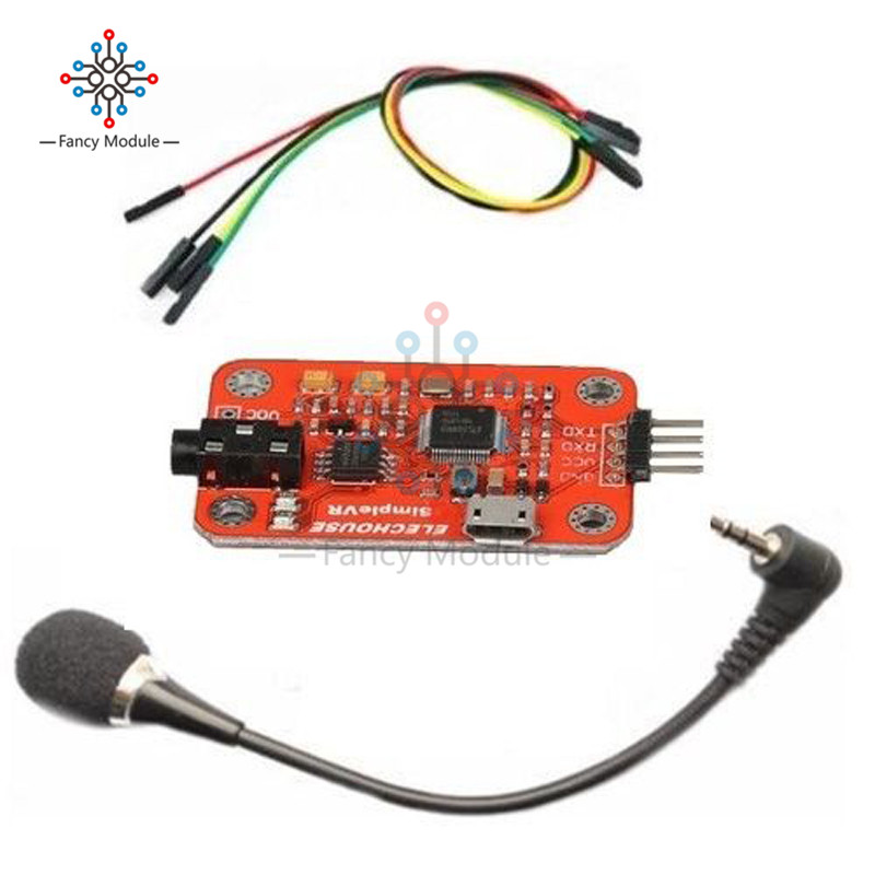 Support 80 Kinds of Voice with 99% High Accuracy DC4.4 -5.5 V 40 mA Speed Recognition Voice Recognition Module V3 for Ardiuno