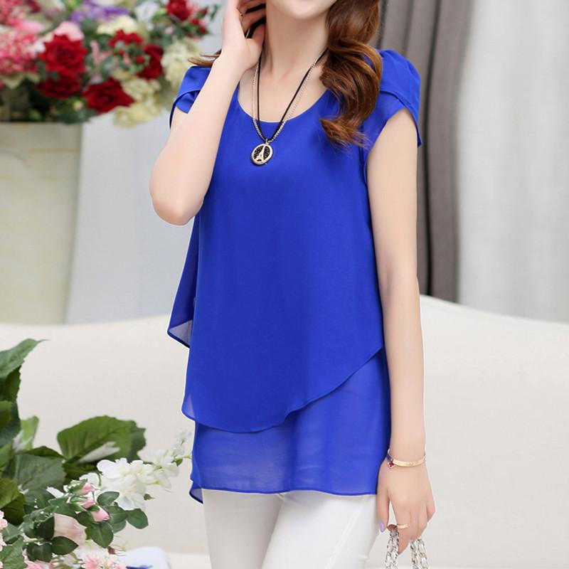short sleeve chiffon blouse (20)