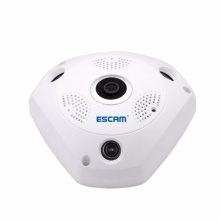 ESCAM Shark QP180 960P IP VR Camera WiFi Network Fisheye 1.44mm 360 Wi-Fi Cameras Surveillance CCTV Cam support VR BOX(China)