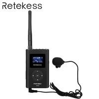 RETEKESS 0.3W FM Transmitter Handheld MP3 Broadcast Radio Transmitter Portable For Car Meeting Tour Guide System Outdoor Camping
