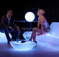 Ground coffee table LED Bubble light plastic coffee station/Party/Hotel/living room creative LED illuminated cocktail table
