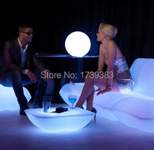Ground coffee table LED Bubble light plastic station/Party/Hotel/living room creative illuminated cocktail
