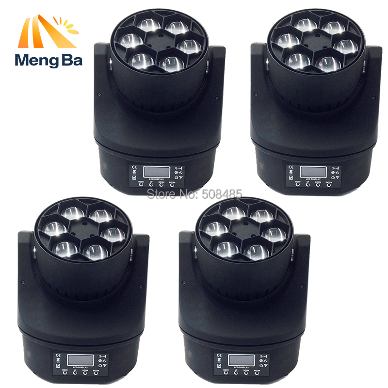 2 Flight Case wih 8pcs/lot 6x15W Mini Bee Eyes RGBW 4in1 Moving Head Beam Washer Light DMX512 LED for DJ/Show  Light Stage 6 frames reversible honey extractor for bee keeping