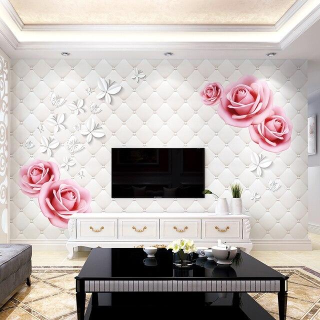 fiore farfalla foto murales per la camera da letto decorazione