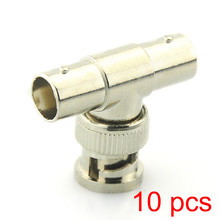 10x BNC T Adapter Splitter Connector Koppeling 1 Man 2 Vrouw CCTV Jack Plug(Hong Kong,China)