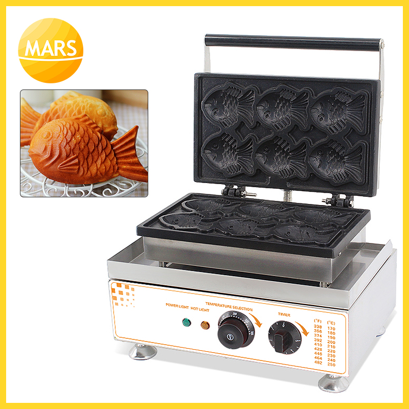 Cooking Appliances Free Shipping 110v 220v Commercial Electric Fish Shape Waffle Maker For Sale